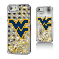 WVU West Virginia Mountaineers Dots Glitter Case for iPhone 8 / 7 / 6
