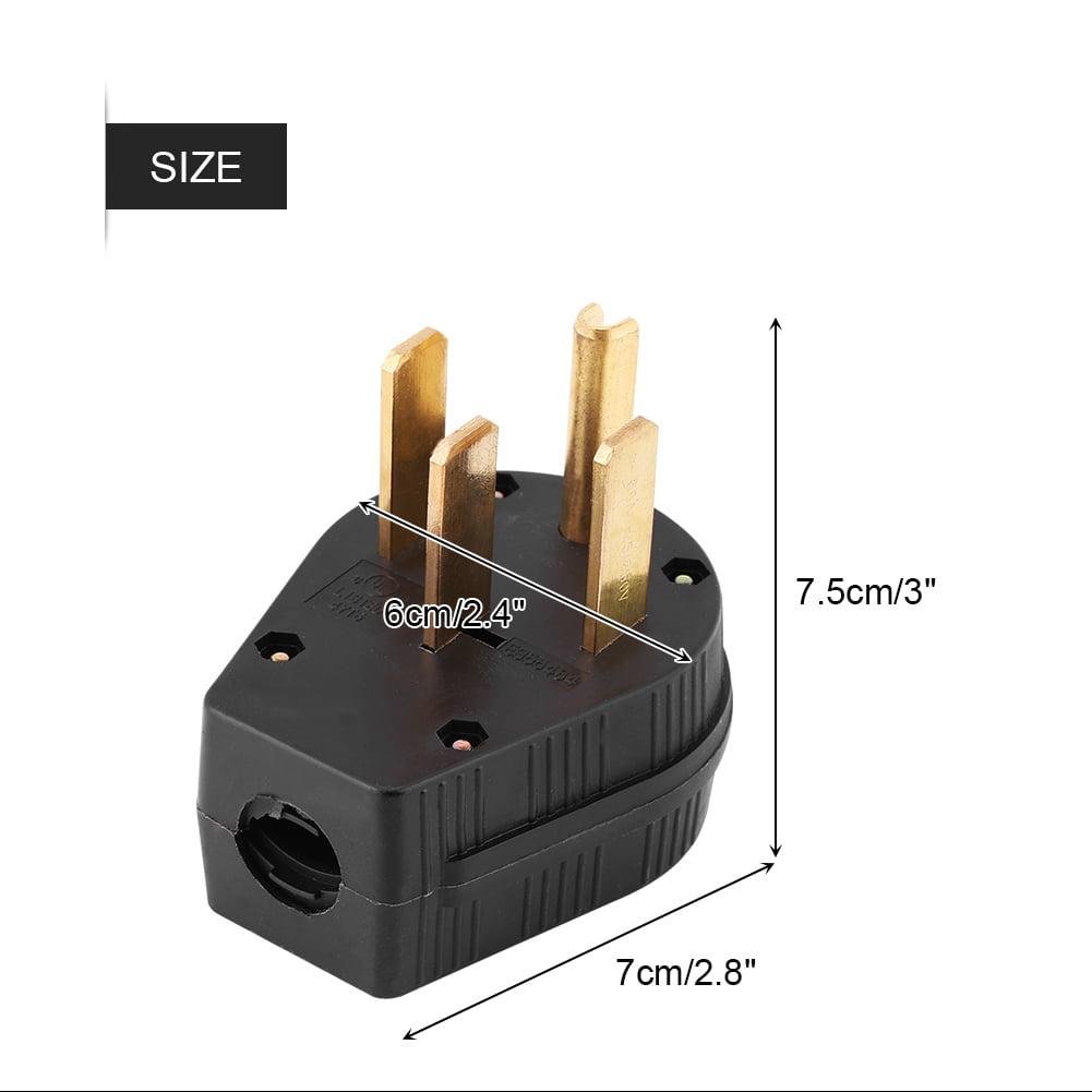 NEMA 14-50p 50A 125V Straight Blade US Four Holes Plug Dryer RV Generator 14-50p