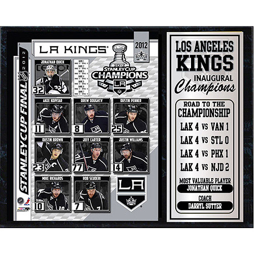 NHL Los Angeles Kings Champions Stat Plaque, 12x15