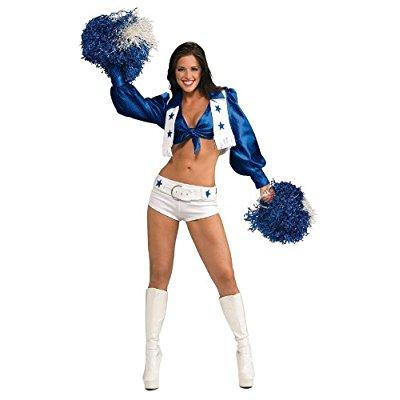 secret wishes women's dallas cowboy cheerleader costume, white, medium