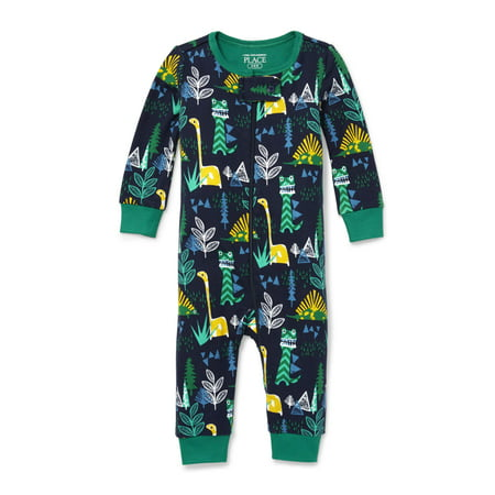 Blue Long Sleeve Sleeper (Long Sleeve Snug-Fit Footless Stretchie Pajama (Baby Boys & Toddler)