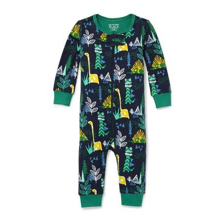 Long Sleeve Snug-Fit Footless Stretchie Pajama (Baby Boys & Toddler Boys)