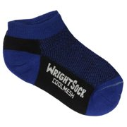504 Double Layer Coolmesh Low Quarter Sock, Black / Royal, Small