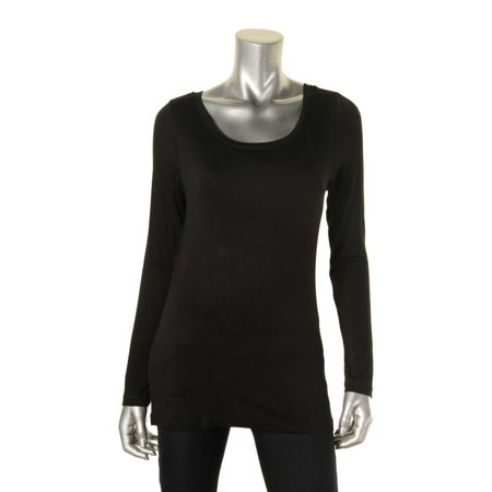 Cable Gauge Cable Gauge Womens Long Sleeve Scoop Neck Knit Top
