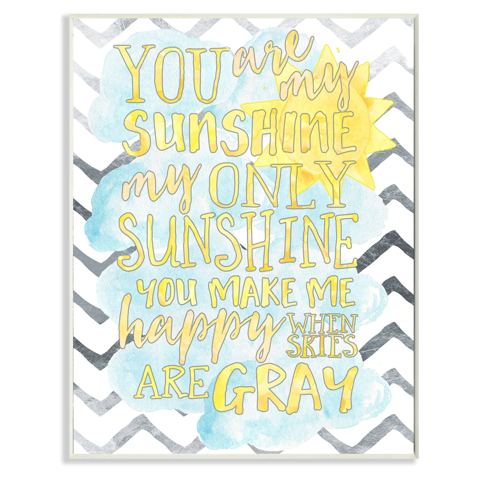 The Stupell Home Decor Collection You are My Sunshine Watercolors Wall Plaque Art