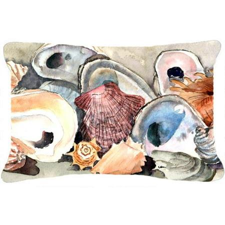 Carolines Treasures 8619PW1216 Sea Shells Indoor & Outdoor Fabric Decorative Pillow - image 1 de 1