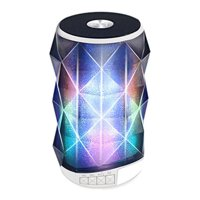 Portable Wireless Speaker w/ Magic Changing Colorful Lights for Kyocera DuraTR,Honor 9 Lite,Lenovo K320t,Meizu M6s, Micromax Bharat 5, 5 Plus,Canvas Infinity Pro,Bharat 2 Ultra (White)