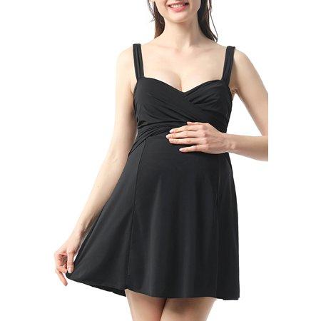 Plus Size Maternity Swimsuits - Women UPF 50+ Maternity One PIece Swimsuit Pregnancy Bathing Suit Swimdress