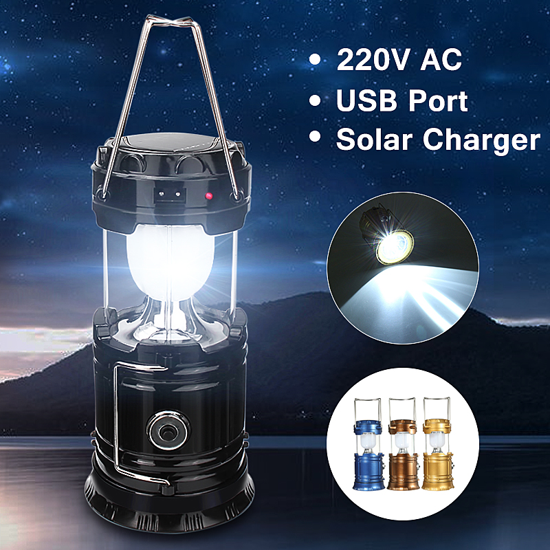 ThorFire 3-in-1 Rechargeable Solar Ultra Bright Led Camping Lantern Portable Outdoor Survival Lamp Light For Fishing ,Emergency,Hiking,Hunting