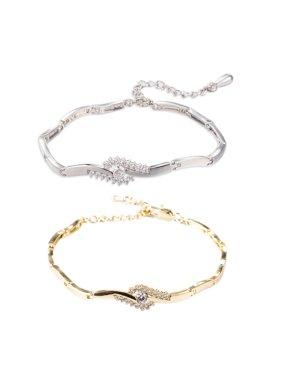 Women's Beach Sandal Ankle Bracelet Anklet Foot Jewelry Platinum