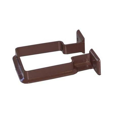 Genova Products RB202 Gutter Downspout Bracket, Brown Vinyl