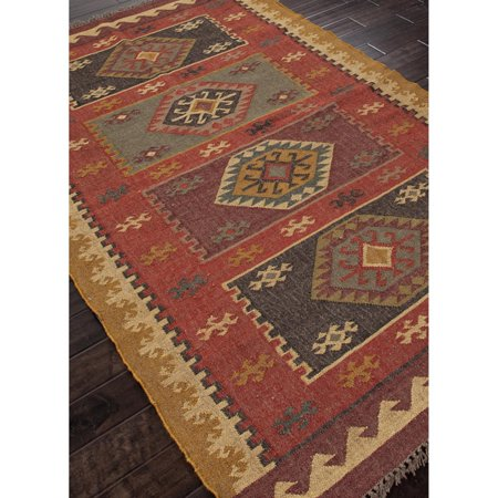 Jaipur Bedouin Amman Flat Weave Tribal Pattern Hemp/Jute Handmade Rug