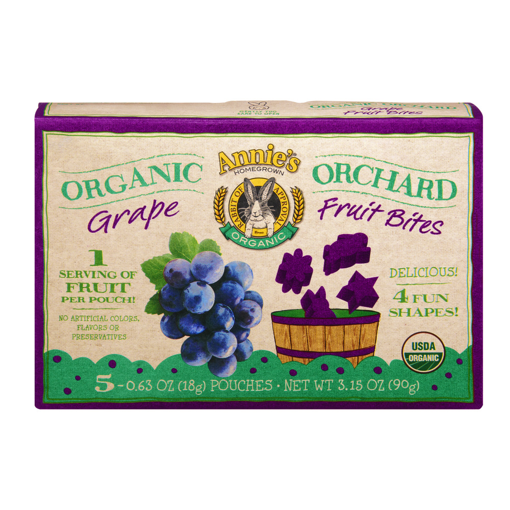 Annie's Homegrown Organic Orchard Grape Fruit Bites - 5 CT