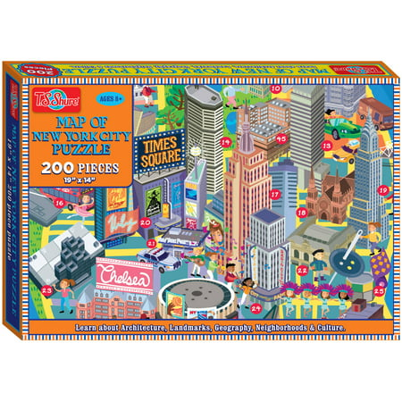 T.S. Shure Map of New York City Jigsaw Puzzle, 200 Pieces