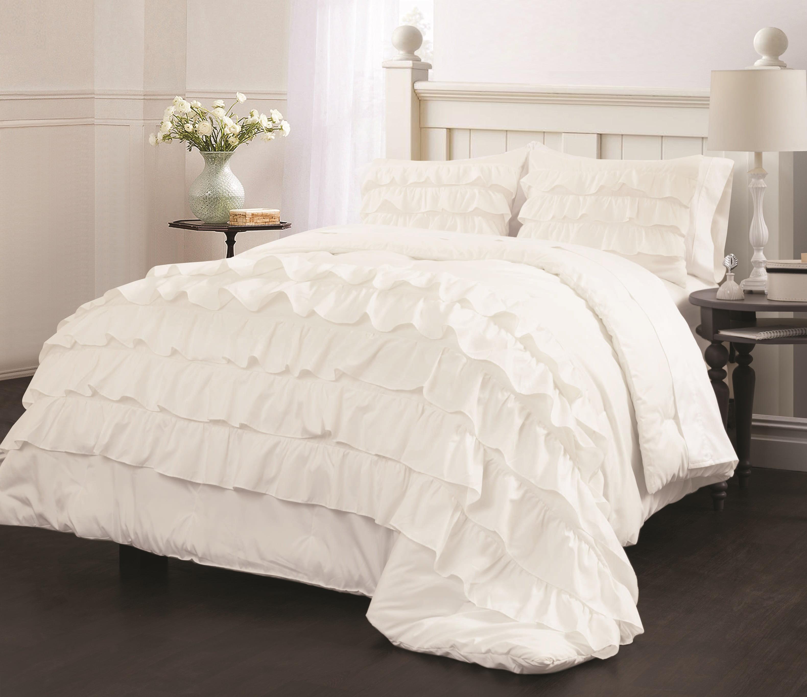 Latitude Ruby Ruffle Bedding Comforter Set Walmart Com Walmart Com