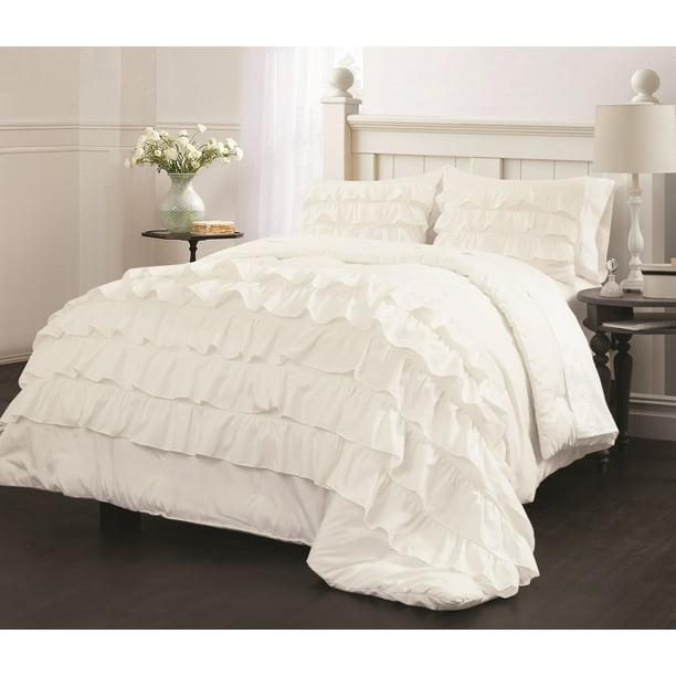 Latitude Ruby Ruffle Bedding Comforter, Queen Bedding With Ruffles