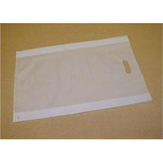 Bags & Bows by Deluxe 55-14321-FHDC Clear Frosted High Density Merchandise Bags - Case of 500