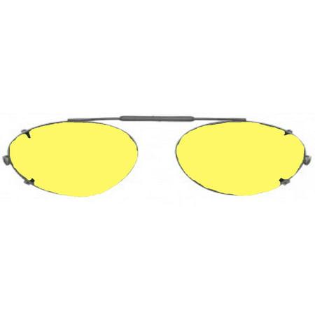 4256ad818e Shade Control - Visionaries Polarized Clip on Sunglasses - Almond - Black  Frame - 51 x 36 Eye - Walmart.com