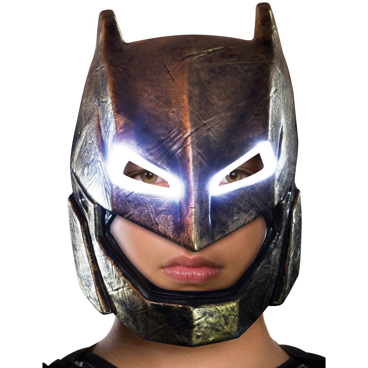 Batman v Superman: Dawn of Justice, Batman Adult Armored Light Up Mask, Halloween Accessory