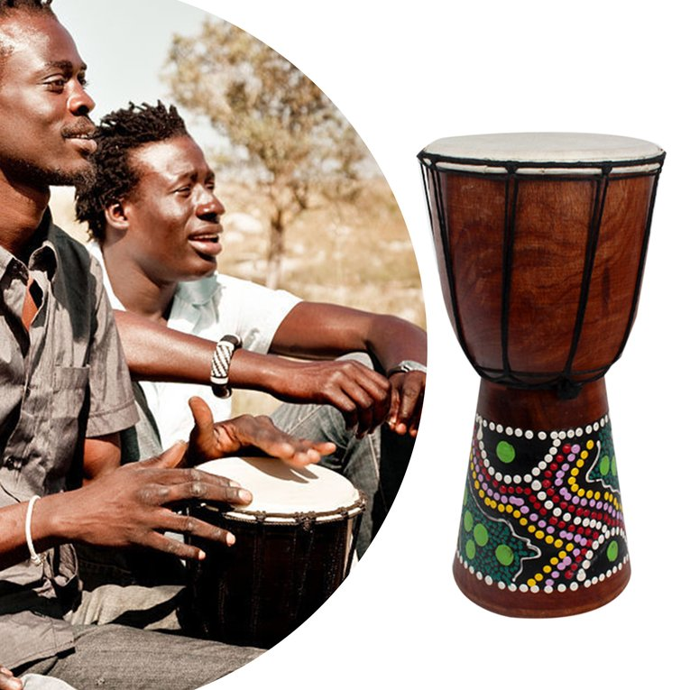 2017 Hot Sale 6 Inch African Djembe Percussion Mahogany Hand Drum with Goat Skin Surface... by