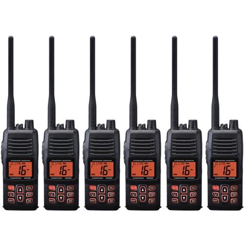 Standard Horizon HX400IS Handheld VHF 40 Channels DSC Noise Canceling Mic IPX8 WaterRating (6 Pack)
