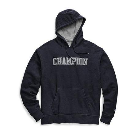 60284e2018 Champion Men's Powerblend Fleece Pullover Hoodie, Mesh-Effect Logo -  Walmart.com