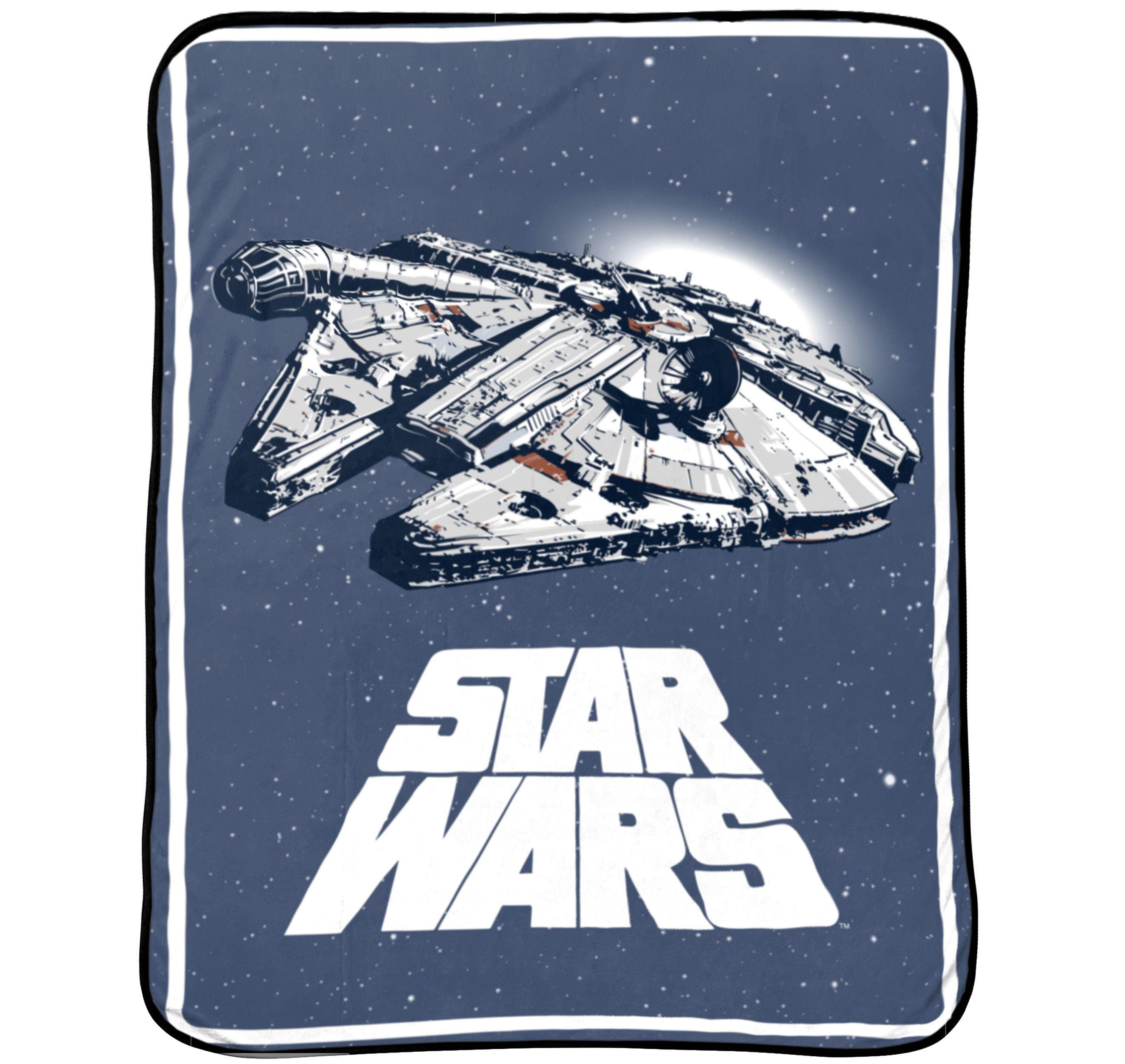 "Star Wars™ 46"" x 60"" Plush Throw, Kid's Bedding"