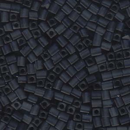 20 Grams Montana Blue Matte Miyuki 4mm Square Cube Glass Seed, Loose -