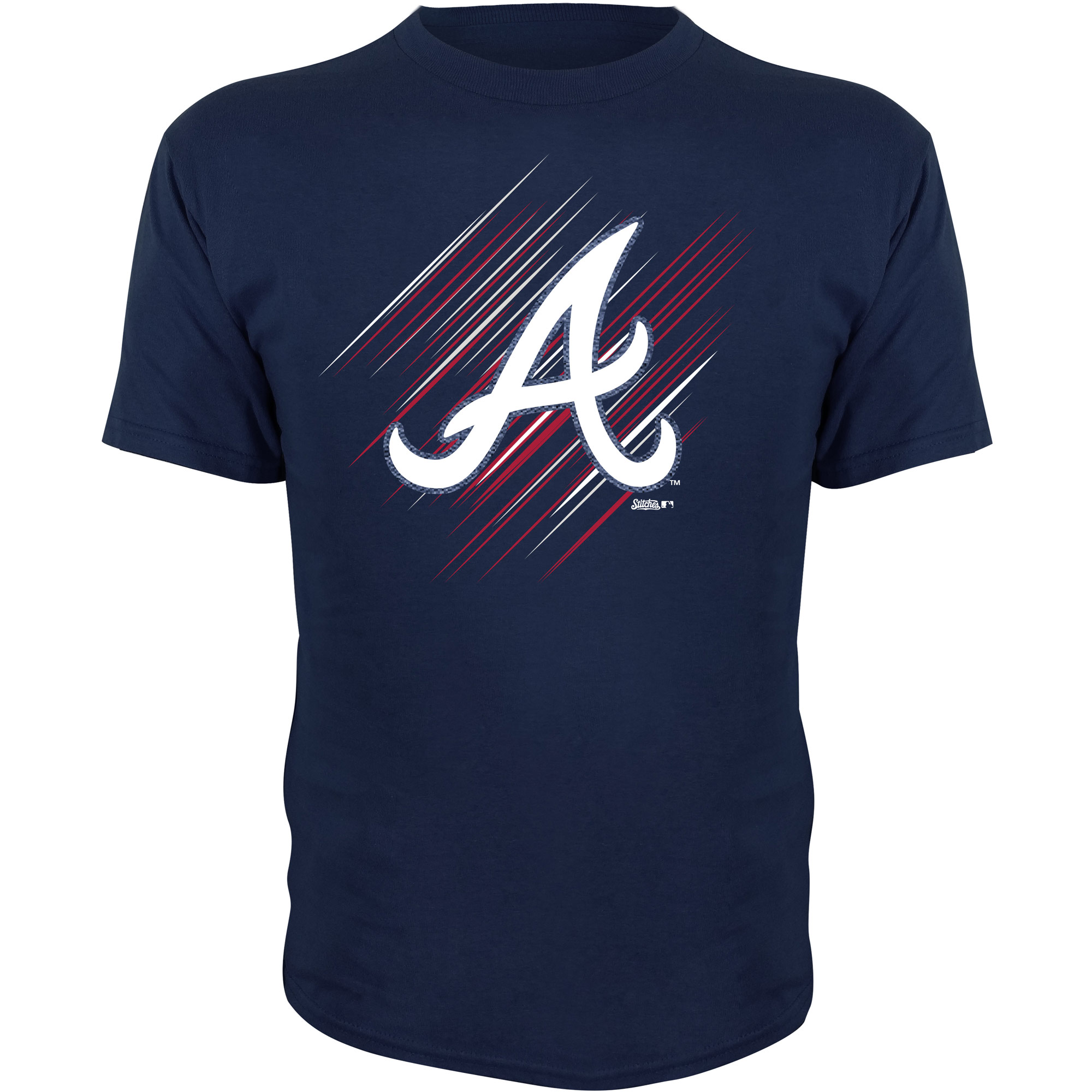 Atlanta Braves Stitches Youth Team Logo T-Shirt - Navy