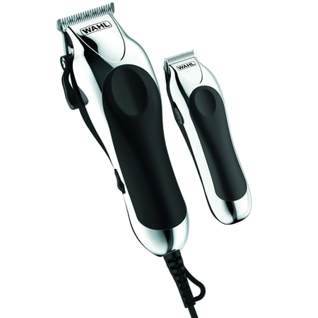 Wahl Deluxe Chrome Pro Home Haircutting Kit, Clipper and Trimmer (Best Hair Trimmer Mens)