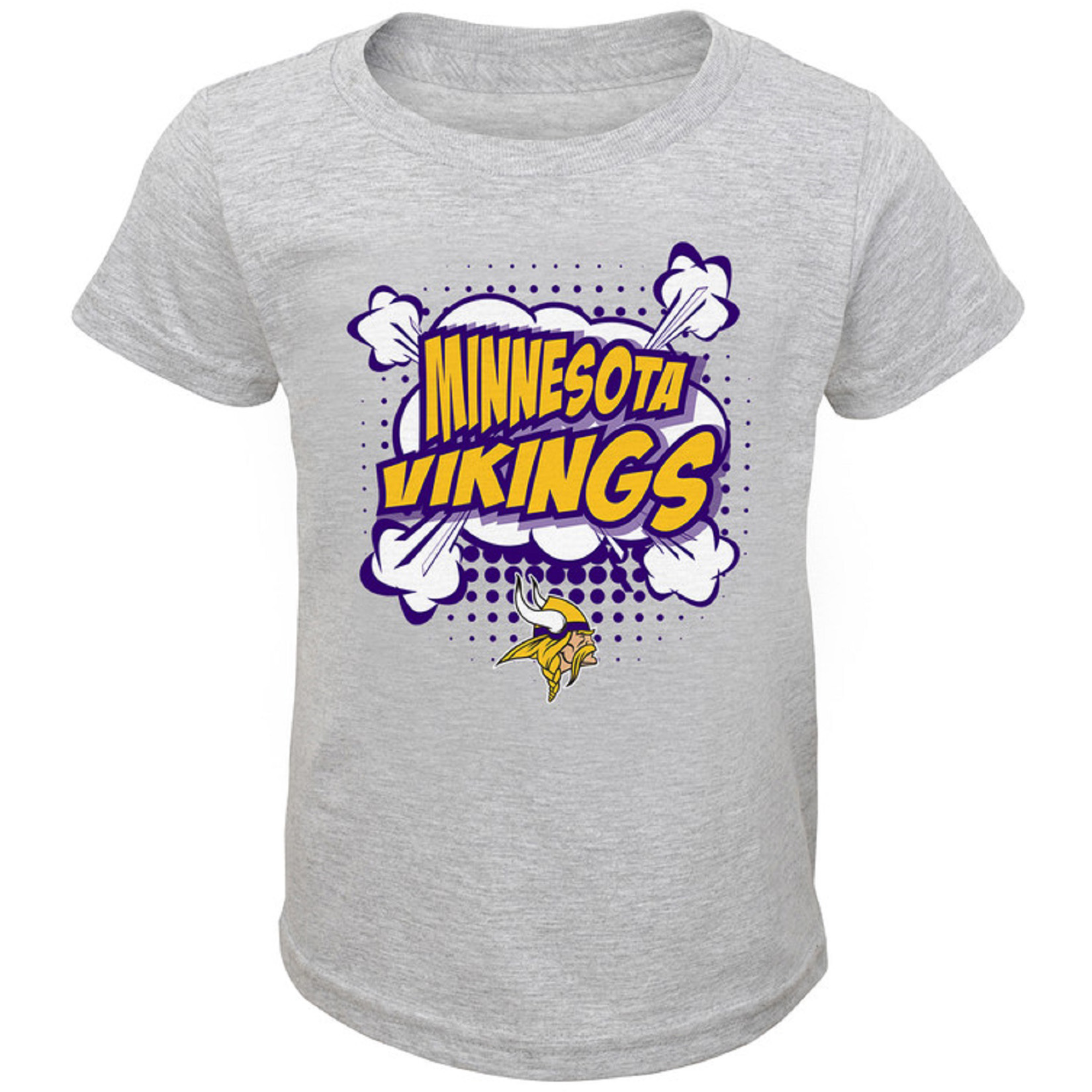 Infant Heathered Gray Minnesota Vikings Crew Neck T-Shirt