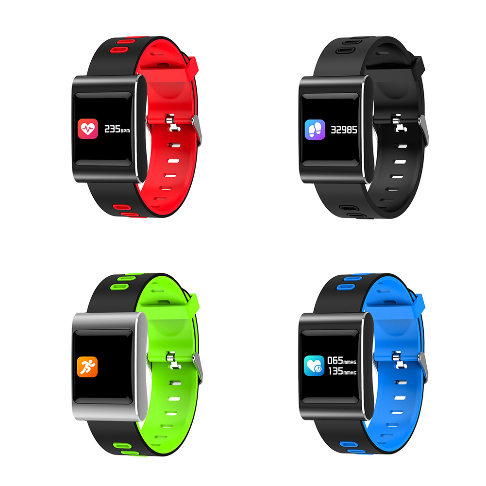 Smart Watch, Fitness Tracker Smart Bracelet Color Screen Bluetooth Smartwatch for iPhone Android Phone with Fitness Sleep Monitoring Waterproof