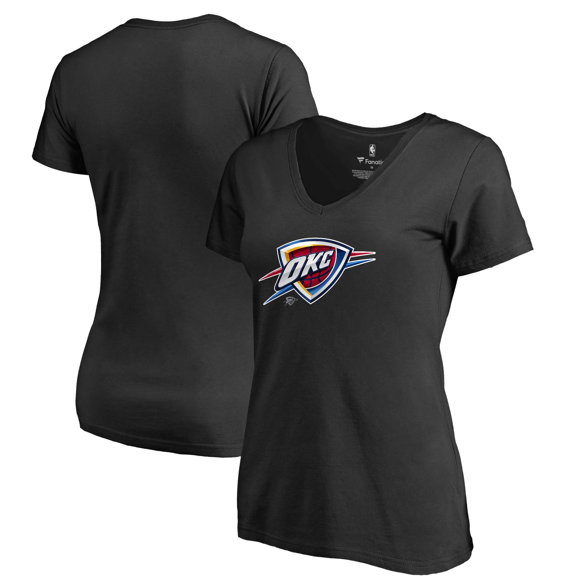 Oklahoma City Thunder Fanatics Branded Women's Midnight Mascot V-Neck T-Shirt - Black