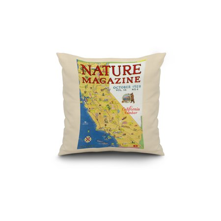Nature Magazine Detailed Map of California State with Scenic Spots to
