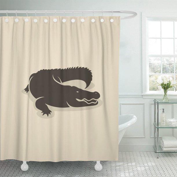 Pknmt Alligator Crocodile Cayman, Alligator Shower Curtain