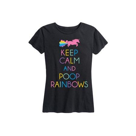 Poop Rainbows - Ladies Short Sleeve Classic Fit Tee - Rainbow Poop