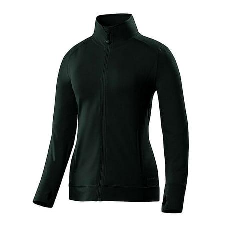 Terramar Women's Cloud Nine 4-Way Stretch Brushed Full Zip Jacket Clouds & Stars Quick Zip