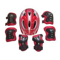 Cathery Boy Girls 7PCS Skating Bike Protective Gear Safety Helmet Knee Elbow Pad Set