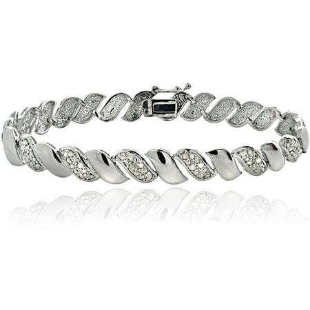 1/2 Carat T.W. Diamond Silver-Tone San Marco - 7 San Marco Bracelet