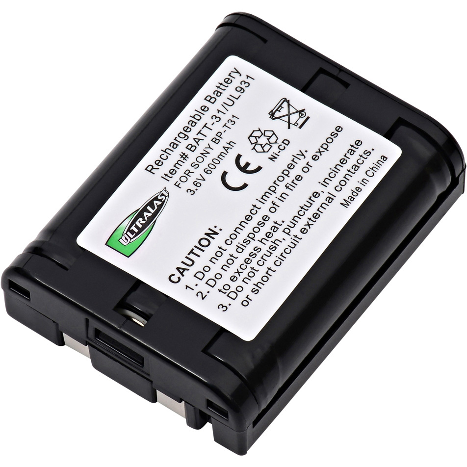 3.6 Volt Nickel Cadmium Replacement Cordless Phone Battery for Sony BP-T31