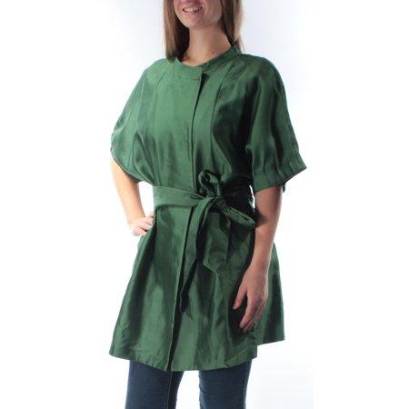 ARMANI Womens Green Belted Bell Sleeve Mandarin Collar Tunic Top  Size: (Armani Suit)