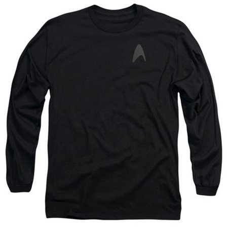 Star Trek-Darkness Command Logo - Long Sleeve Adult 18-1 Tee - Black, Medium - image 1 de 1