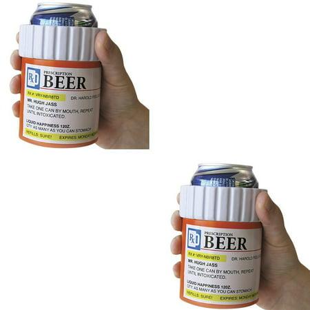 Rx Prescription Beer Kool Kooler   Novelty Beverage Cooler  Set Of 2