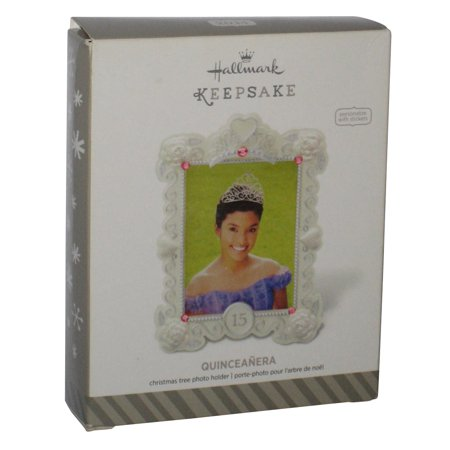 Holder Christmas Ornament - Quinceanera 15 Photo Holder Hallmark Christmas Keepsake Ornament
