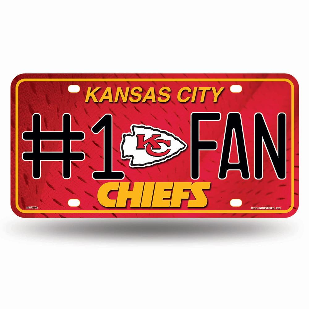Kansas City Chiefs NFL Metal Tag License Plate (#1 Fan)