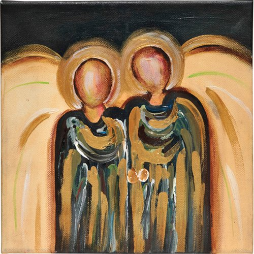 Thompson and Elm Joyful Abundance Angel Oil Painting Print on Canvas