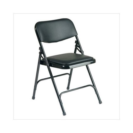 star metal folding chair with vinyl padding set of 4