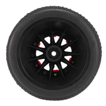 4Pcs AUSTAR AX-3008 High Performance 108mm 1/10 Scale Tires with Wheel Rim for 1/10 Short Racing Truck RC Car - image 6 de 7
