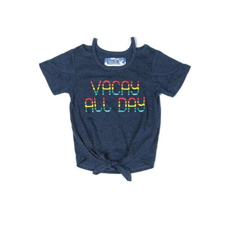ae9ec09ec Kapital K - Vacay All Day Ruffled Tee (Baby Girls & Toddler Girls) -  Walmart.com