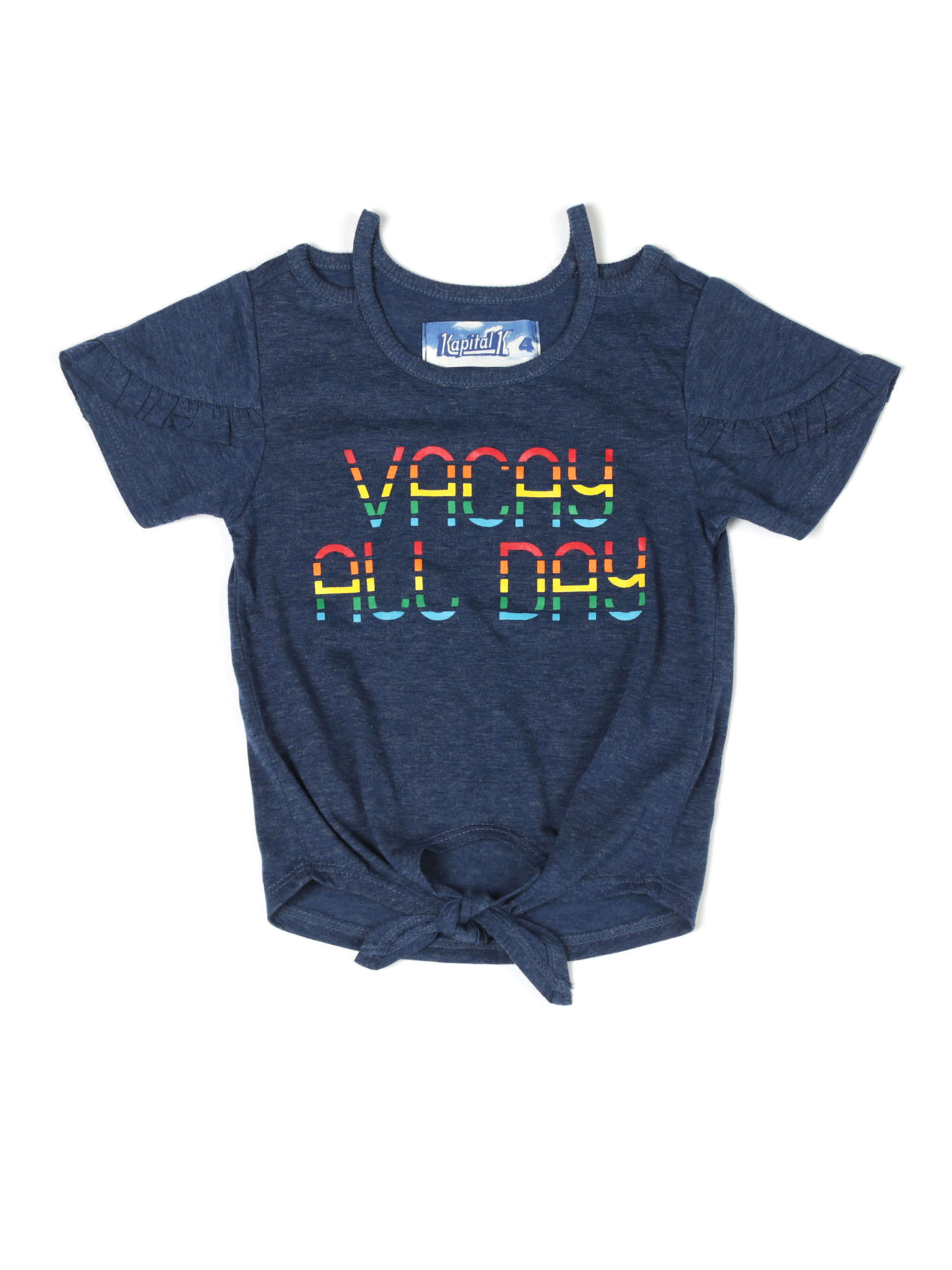 Vacay All Day Ruffled Tee (Baby Girls & Toddler Girls)